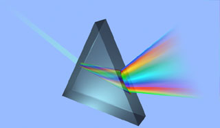[prism separating light]